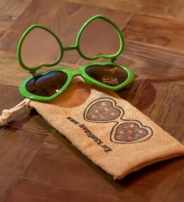 Love Specs Diffraction Sunglasses Forest Green Flip